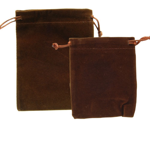 VELVETEEN POUCH BROWN