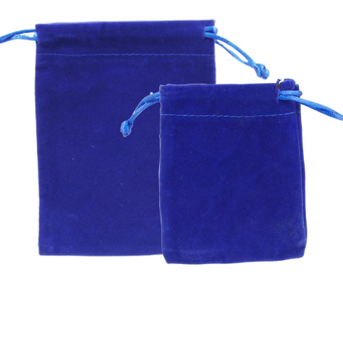VELVETEEN POUCH ROYAL BLUE